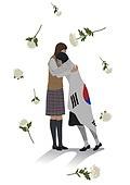 민주주의, 5.18, 민주화운동, 4.19혁명, 태극기, 국화, 슬픔, 포옹