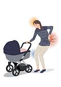 임신, 육아, 노산, 여성, 출산준비, 저출산 (컨셉), 고통 (컨셉), 유모차, 고통