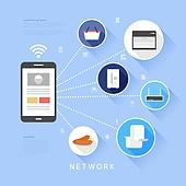 일러스트, 벡터파일 (일러스트), 컴퓨터네트워크 (컴퓨터장비), 플랫디자인 (이미지), 4차산업혁명 (산업혁명), 비즈니스