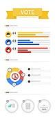 일러스트, 인포그래픽, 그래프, 평면 (물체묘사), 자료 (정보매체), 투표 (선거), 선거