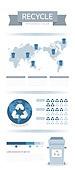 일러스트, 인포그래픽, 그래프, 평면 (물체묘사), 자료 (정보매체), 지도, 세계지도, 재활용 (환경보호), 환경