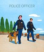 직업, 라이프스타일, 일 (물리적활동), 경찰, 유니폼, 경찰견 (훈련견)