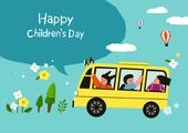 어린이 (인간의나이), 어린이날 (홀리데이), 프레임, 연례행사 (사건), 가정의달, 말풍선, 버스