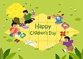 어린이 (인간의나이), 어린이날 (홀리데이), 프레임, 연례행사 (사건), 가정의달, 돗자리, 소풍 (아웃도어), 잔디밭 (경작지), 소풍