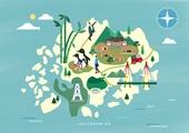 여행, 지도, 랜드마크, 대한민국 (한국), 나침반, 전라남도 (대한민국), 대나무 (식물), 한옥