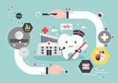 의학 (과학), 치과, 치아, 사람손 (주요신체부분), 의사, 칫솔 (세면도구), 약, 진찰 (의료행위)