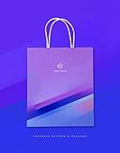 비즈니스, 오브젝트, 스테이셔너리, 패턴, 패키지, 쇼핑백