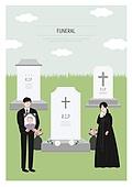 애도 (정지활동), 장례, 죽음, 국화, 슬픔, 영정사진 (포트레이트), 무덤 (공동묘지), 십자가