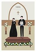 애도 (정지활동), 장례, 죽음, 국화, 슬픔, 영정사진 (포트레이트), 관 (인조물건), 눈물