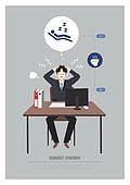 비즈니스, 일 (물리적활동), 과로, 번아웃증후군 (격언), 피로 (물체묘사), 비즈니스맨, 수면부족, 책상