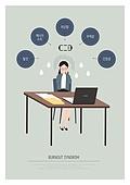 비즈니스, 일 (물리적활동), 과로, 번아웃증후군 (격언), 피로 (물체묘사), 비즈니스우먼, 우울, 노트북