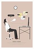 비즈니스, 일 (물리적활동), 과로, 번아웃증후군 (격언), 피로 (물체묘사), 비즈니스맨, 바쁨, 책상