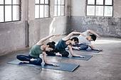 한국인, 여성, 남성, 요가, 요가수업 (요가), 스트레칭, 운동