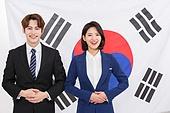 한국인, 여성, 남성, 미소, 투표 (선거), 선거 (사건), 태극기