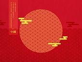 중국 (동아시아), 중국문화, 백그라운드, 벡터파일 (일러스트), 패턴, 빨강 (색상)