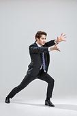 한국인, 비즈니스, 비즈니스맨, 행동 (모션), 활력 (컨셉), 무술, 공격 (컨셉)