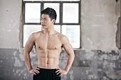 한국인, 남성, 요가, 요가지도자, 근육질 (사람체격)