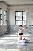 한국인, 여성, 요가 (이완운동), 다이어트, 건강한생활 (주제)