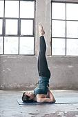 한국인, 여성, 요가 (이완운동), 다이어트, 건강한생활 (주제), 어깨로서기