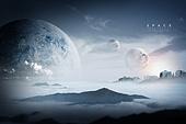 백그라운드, 우주 (자연현상), 행성 (우주), 하늘