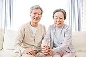 한국인, 노인, 부부, 노인커플 (이성커플), 손잡기, 노후대책 (사회현상), 행복