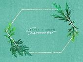여름, 잎, 야자잎 (잎), 청첩장, 초대장, 백그라운드, 리프레시 (컨셉), 녹색 (색상), 신선 (컨셉)