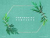 파워포인트, 메인페이지, 잎, 녹색, 리프레시, 녹색, 신선