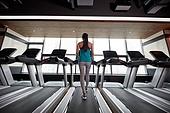한국인, 여성, 헬스클럽 (레저시설), 런닝머신, 다이어트, 걷기, 건강한생활 (주제)