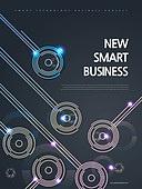 기하학모양 (도형), 비즈니스, 4차산업혁명 (산업혁명), 첨단기술 (기술), 포스터