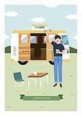 여행, 휴가, 캠핑, 캠핑트레일러 (트레일러), 테이블, 의자 (좌석)