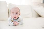 한국인, 아기 (인간의나이), 엎드림 (눕기), 얼굴표정 (커뮤니케이션컨셉)