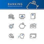 아이콘세트 (아이콘), 비즈니스, 라인아이콘, 금융, 컴퓨터모니터 (개인용컴퓨터), 그래프, 돼지저금통, 달러기호