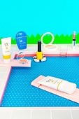 수영장, 종이, 계절, 오브젝트 (묘사), 자외선, 휴가, 선크림 (화장품), 화장품 (몸단장제품), 뷰티