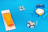 백그라운드, 여름, 계절, 종이, 자외선, 선크림 (화장품), 수영장, 미니어쳐 (공예품)