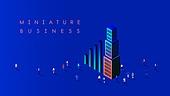 비즈니스, 미니어쳐 (공예품), 도움, 백그라운드, 성장, 협력 (컨셉), 팀워크 (협력), 직업 (역할), 회사건물 (건물외관)
