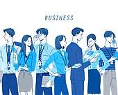 비즈니스, 파랑 (색상), 화이트칼라 (전문직), 비즈니스우먼, 비즈니스맨, 슈트 (옷), 신분증 (서류)
