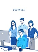 비즈니스, 파랑 (색상), 화이트칼라 (전문직), 비즈니스우먼, 비즈니스맨, 슈트 (옷), 협력
