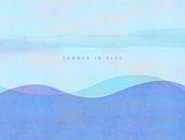 백그라운드, 물 (자연현상), 파랑, 바다, 여름, 물결, 수채화 (회화기법)