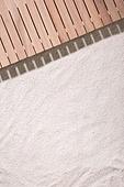 모래 (자연현상), 여름, 계절, 해변, 사람없음, 백그라운드, 탑앵글, 나무테라스 (파티오)