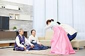 한국명절 (한국문화), 한복, 설날 (한국명절), 세배, 부모 (가족구성원), 가족
