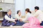 한국명절 (한국문화), 한복, 설날 (한국명절), 세배, 부모 (가족구성원), 가족, 세뱃돈 (한국전통)