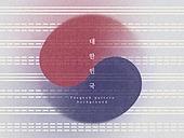 백그라운드, 대한민국 (한국), 패턴, 태극무늬 (한국전통), 기념일