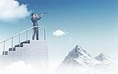비즈니스, 사업관계 (비즈니스), 비즈니스맨 (사업가), 성장, 성공으로가는길 (방향), 건설물 (인조공간), 백그라운드