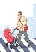 육아, 아기 (인간의나이), 남편, 육아대디 (아빠), 가족, 라이프스타일, 유모차, 횡단보도, 아빠