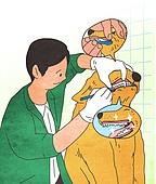 애완동물 (길든동물), 동물병원, 수의사, 진찰 (의료행위), 강아지, 개 (개과), 동물이빨 (동물입), 양치질 (솔질)
