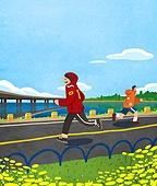풍경 (컨셉), 한강 (강), 한강공원 (서울), 휴식 (정지활동), 라이프스타일, 사람, 조깅 (운동), 운동