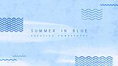 파워포인트, 메인페이지, 물, 바다, 수채화, 여름, 파랑, 물결