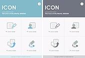 아이콘, 벡터파일 (일러스트), 픽토그램, 라인아이콘, 단순 (컨셉), 비즈니스