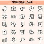 벡터파일 (일러스트), 아이콘, 아이콘세트 (아이콘), 모바일아이콘, 웹아이콘, 픽토그램, 라인아이콘, 단순 (컨셉), 비즈니스, 금융, 대출, 은행 (금융빌딩), 가상화폐, 모바일뱅킹, 보안 (컨셉), 인터넷뱅킹 (전자상거래), 온라인쇼핑