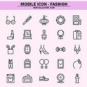 벡터파일 (일러스트), 아이콘, 아이콘세트 (아이콘), 모바일아이콘, 웹아이콘, 픽토그램, 라인아이콘, 단순 (컨셉), 패션, 쇼핑, 상업이벤트 (사건), 세일 (사건), 화장품 (몸단장제품), 뷰티 (아름다움), 액세서리 (인조물건)